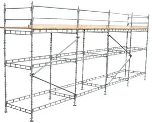 Byggnadsställning i mellanstorlek
